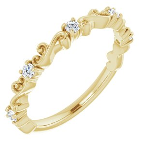 14K Yellow 1/6 CTW Diamond Sculptural-Inspired Anniversary Band