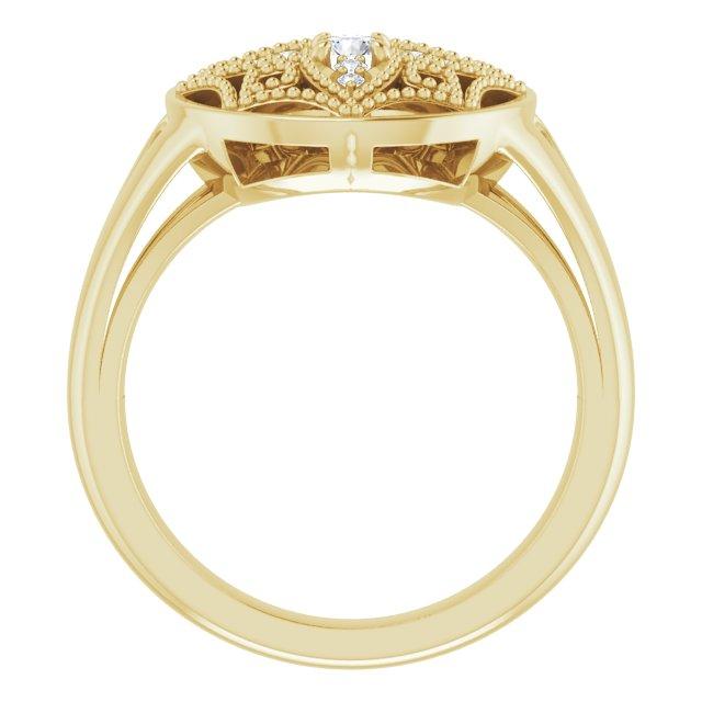 14K Yellow 1/6 CTW Diamond Vintage-Inspired Ring