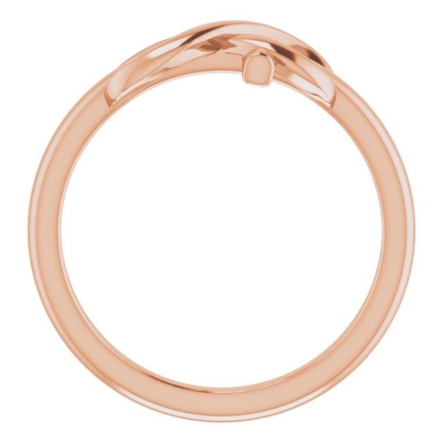 14K Rose Infinity-Inspired Cross Ring