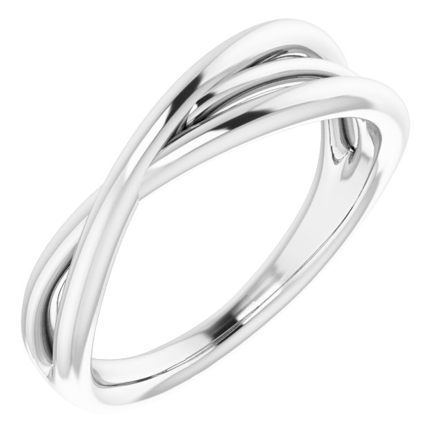 Sterling Silver Criss-Cross Ring