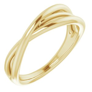 14K Yellow Criss-Cross Ring