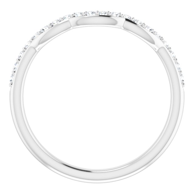 Platinum 1/6 CTW Diamond Band