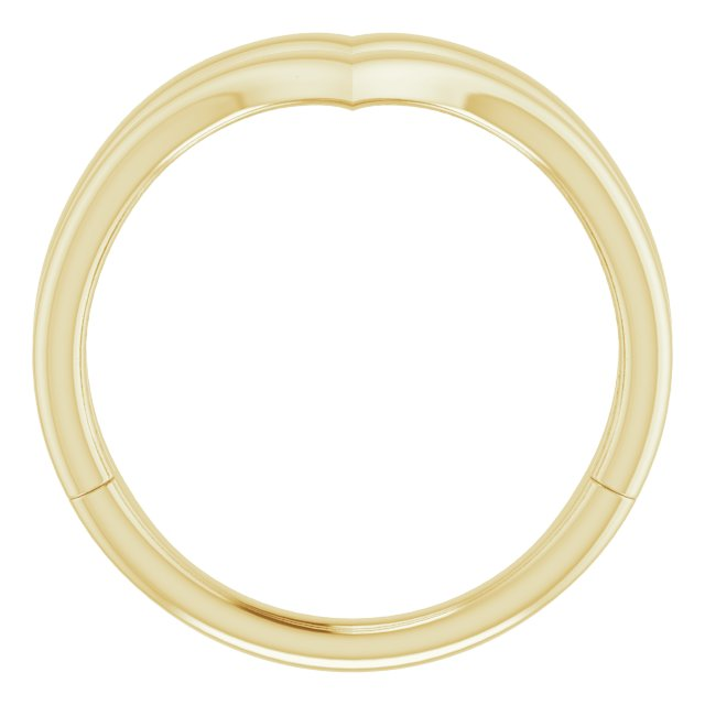 14K Yellow Double V Ring