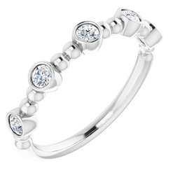 Stackable Five-Stone Beaded Ring