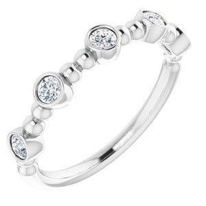 14K White .33 CTW Diamond Stackable Ring