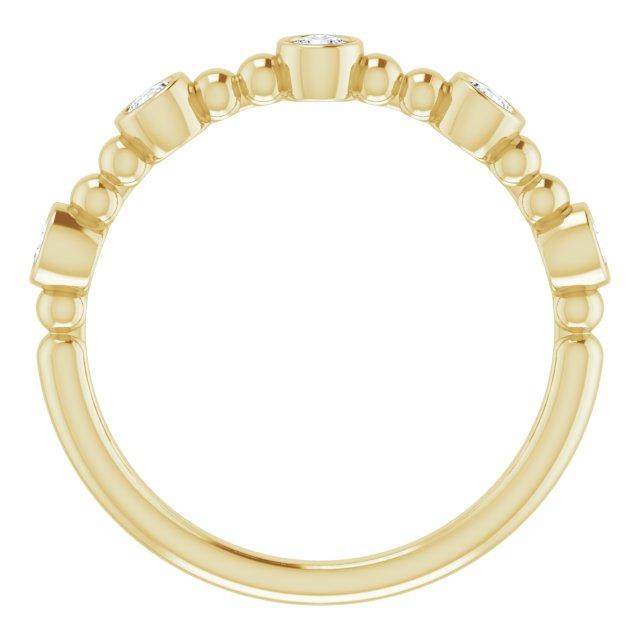 14K Yellow 1/3 CTW Diamond Stackable Bead Ring