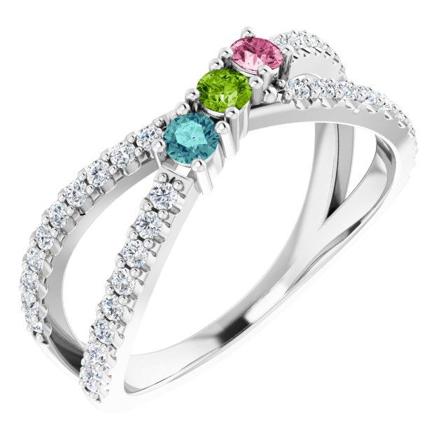 Family Criss-Cross Ring