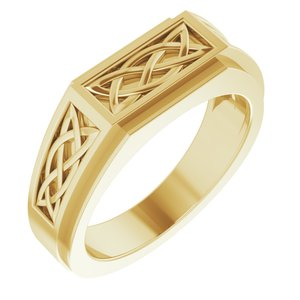 14K Yellow Celtic-Inspired Ring