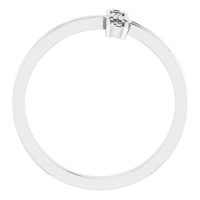 Sterling Silver Sideways Cross Ring