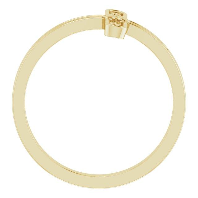 14K Yellow Sideways Cross Ring