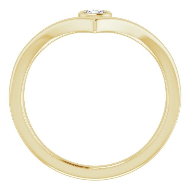14K Yellow 1/10 CTW Diamond Solitaire Bezel-Set
