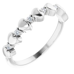 Accented Stackable Heart Ring
