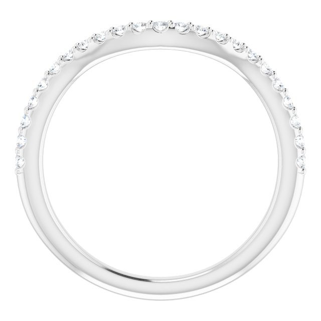 14K White 1/5 CTW Diamond Matching Band