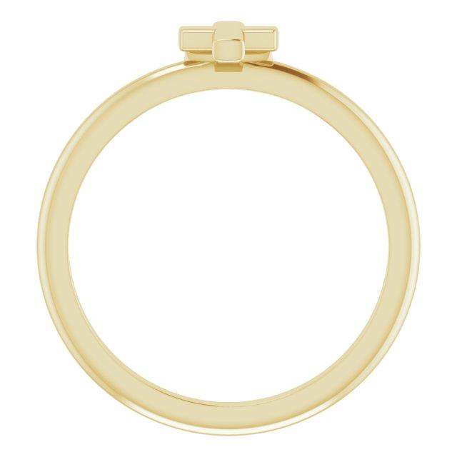 14K Yellow Stackable Cross Ring