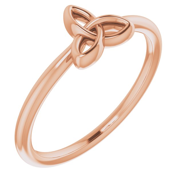 14K Rose Stackable Celtic-Inspired Trinity Ring