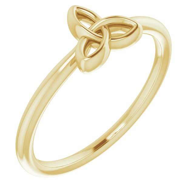 14K Yellow Stackable Celtic-Inspired Trinity Ring