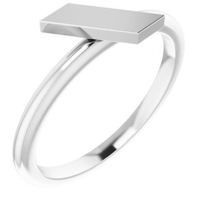 Sterling Silver Stackable Bar Ring