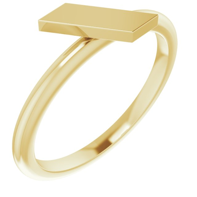 14K Yellow Stackable Bar Ring