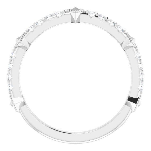 Platinum 1/4 CTW Diamond Stackable Ring