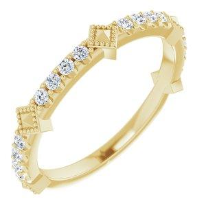 14K Yellow 1/4 CTW Diamond Stackable Ring