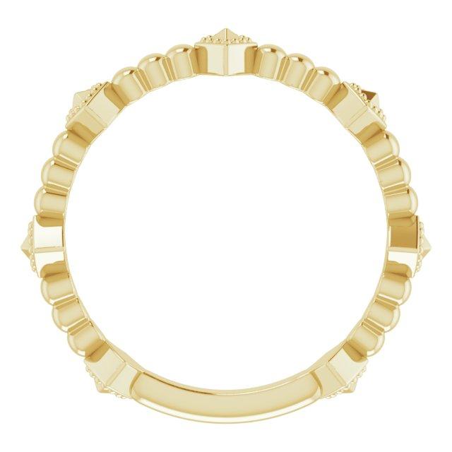 14K Yellow Stackable Pyramid Ring