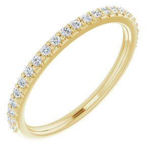 14K Yellow 1/5 CTW Diamond Band for 6.5 mm Round Ring