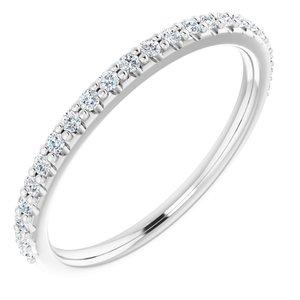 14K White 1/4 CTW Diamond Band for 7x7 mm Cushion Ring