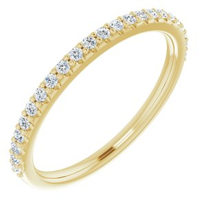 14K Yellow 1/5 CTW Diamond Band for 7x5 mm Emerald Ring