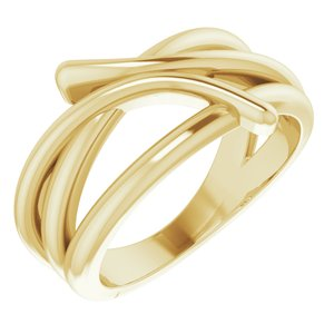 14K Yellow Bypass Freeform Ring