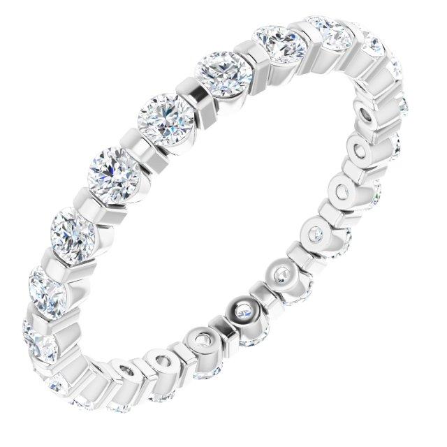 14K White 3/4 CTW Diamond Eternity Band