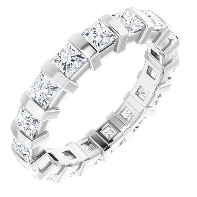 14K White 1 7/8 CTW Diamond Eternity Band