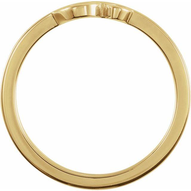 14K Yellow Petite Om Ring