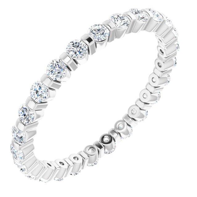 14K White 3/8 CTW Diamond Eternity Band