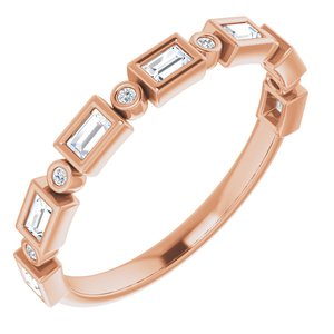 14K Rose 1/4 CTW Diamond Anniversary Band