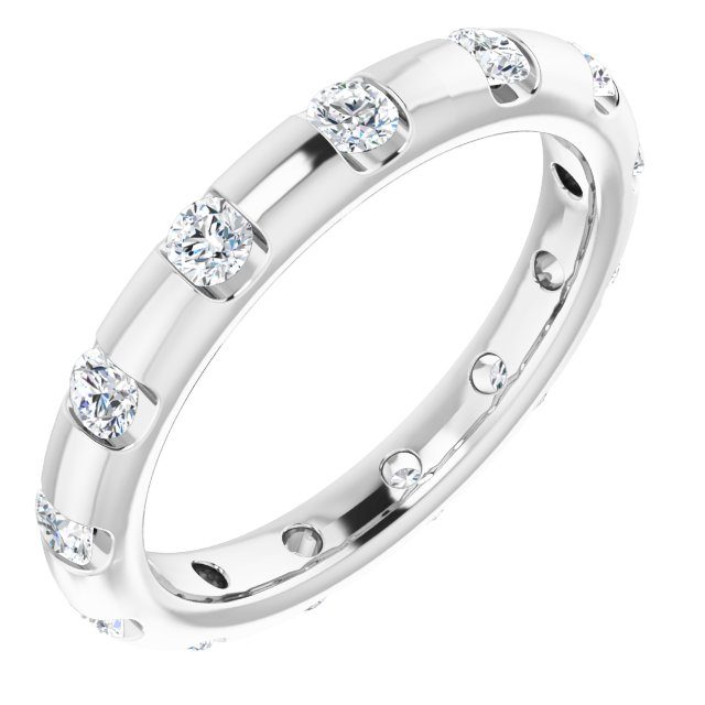 14K White 1/2 CTW Diamond Eternity Band