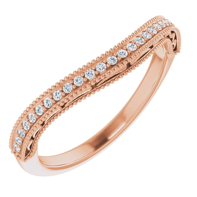 14K Rose 1/8 CTW Diamond Band