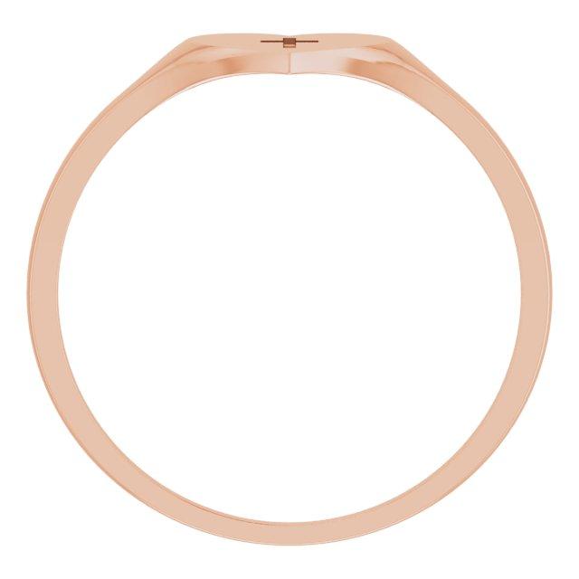 14K Rose Heart & Cross Ring Size 5