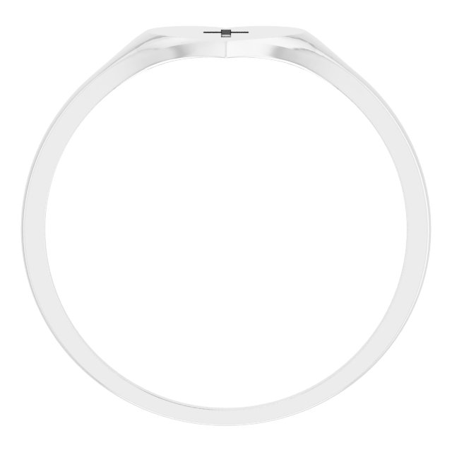 Sterling Silver Heart & Cross Ring Size 5