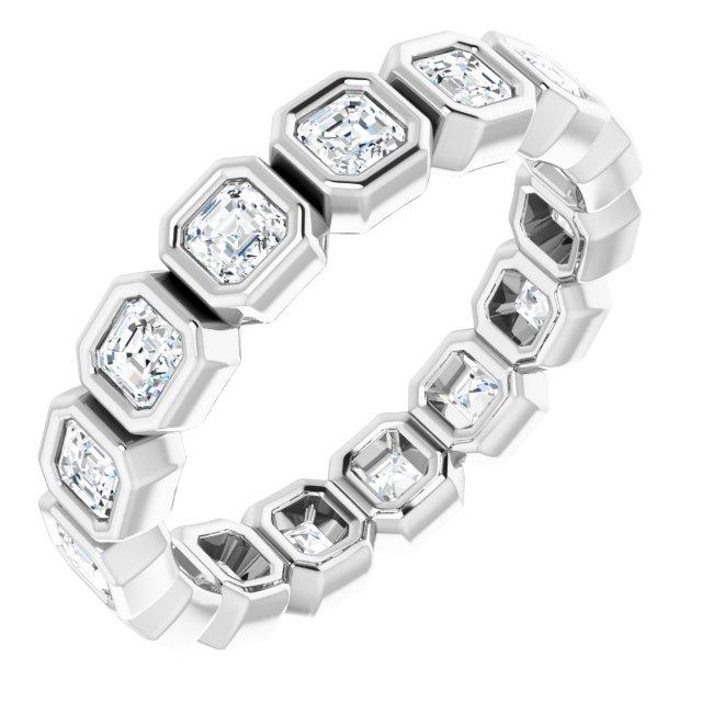 14K White 1 1/2 CTW Diamond Eternity Band