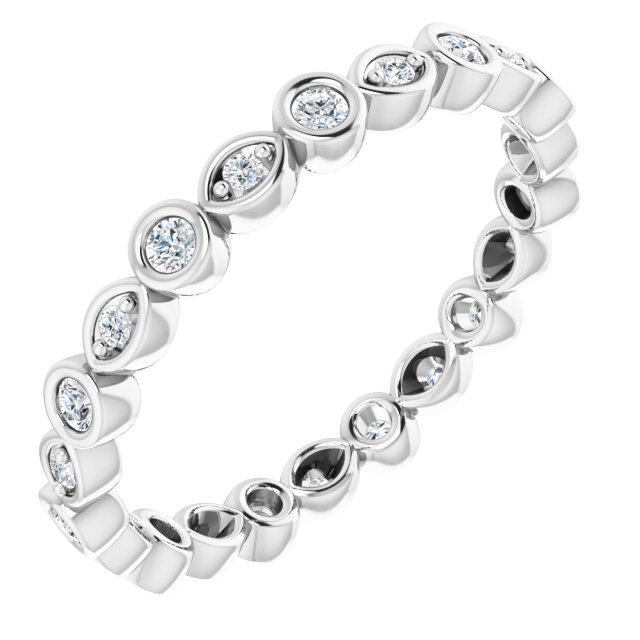 14K White 1/4 CTW Diamond Eternity Band