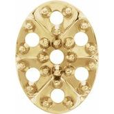 Round Cluster Oval Top Setting