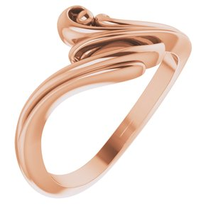 14K Rose Freeform Bypass Ring