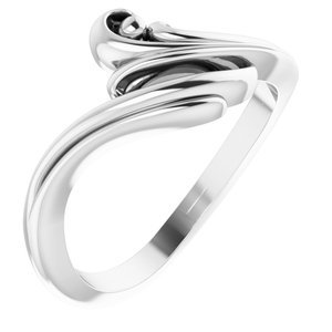 14K White Freeform Bypass Ring