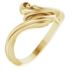 14K Yellow Freeform Bypass Ring