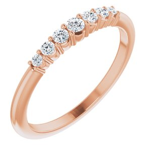 14K Rose 1/6 CTW Diamond Stackable Ring
