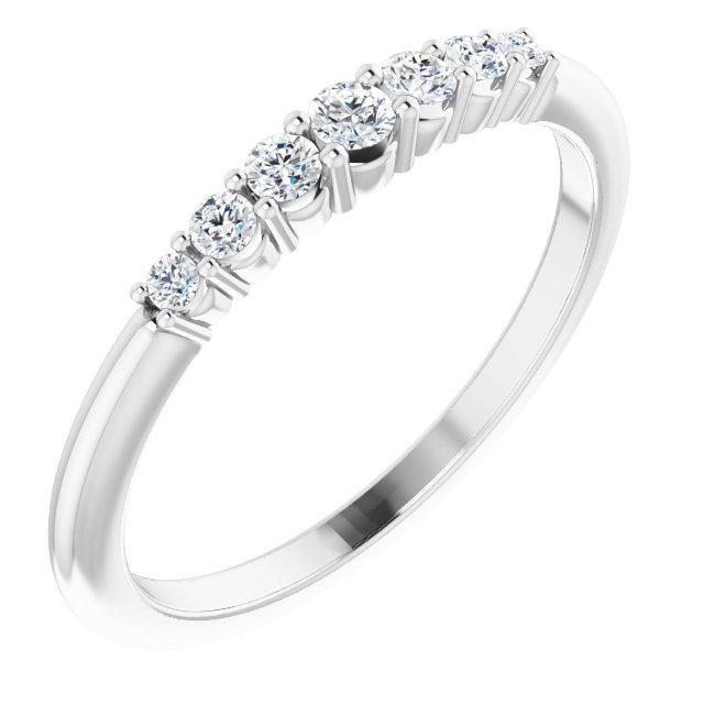 14K White 1/6 CTW Diamond Stackable Ring