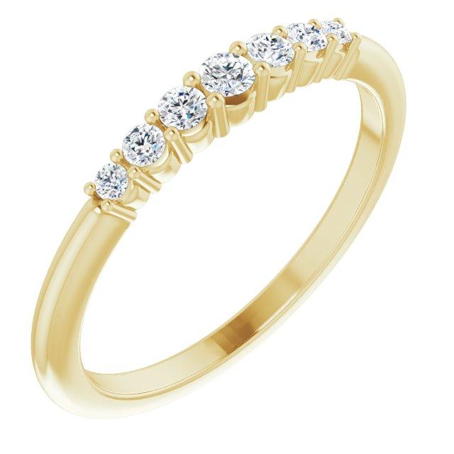 14K Yellow 1/6 CTW Diamond Stackable Ring