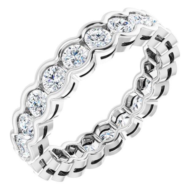 14K White 1 3/8 CTW Diamond Eternity Band