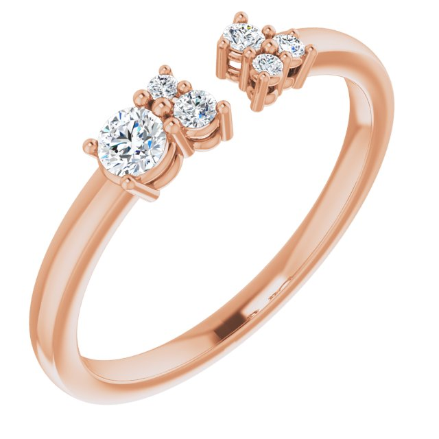 14K Rose 1/6 CTW Diamond Negative Space Ring
