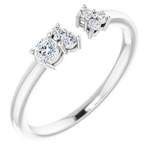 14K White 1/6 CTW Diamond Negative Space Ring